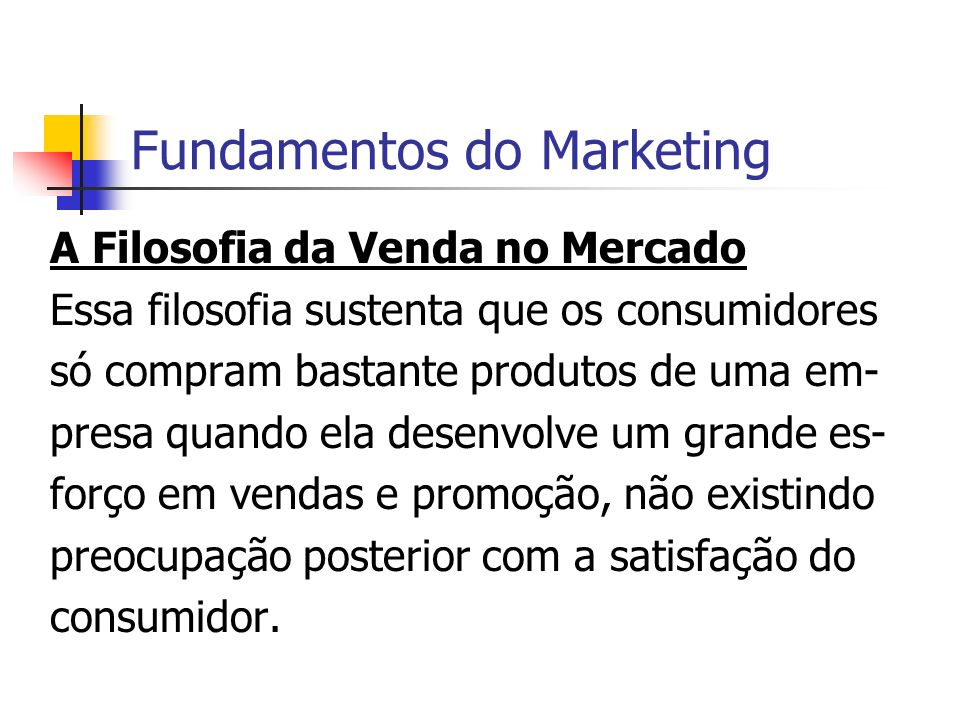 Fundamentos do Marketing