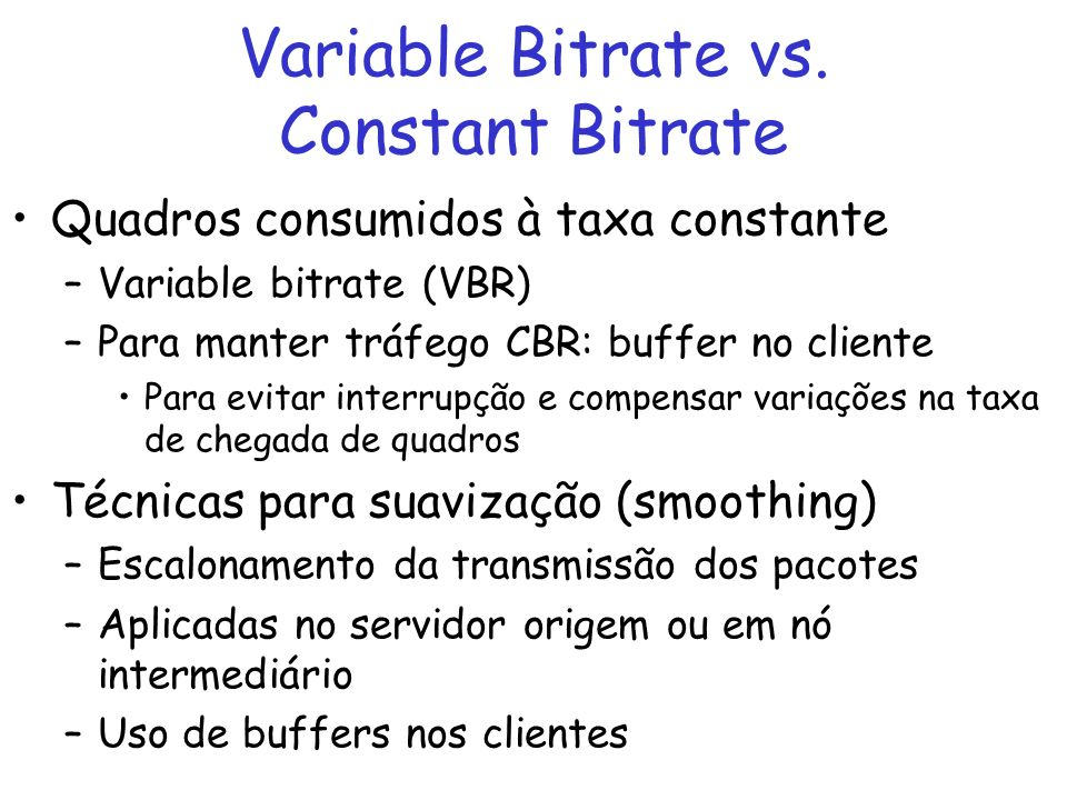 Variable Bitrate vs. Constant Bitrate