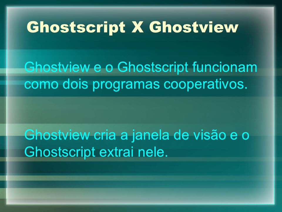 Ghostscript X Ghostview