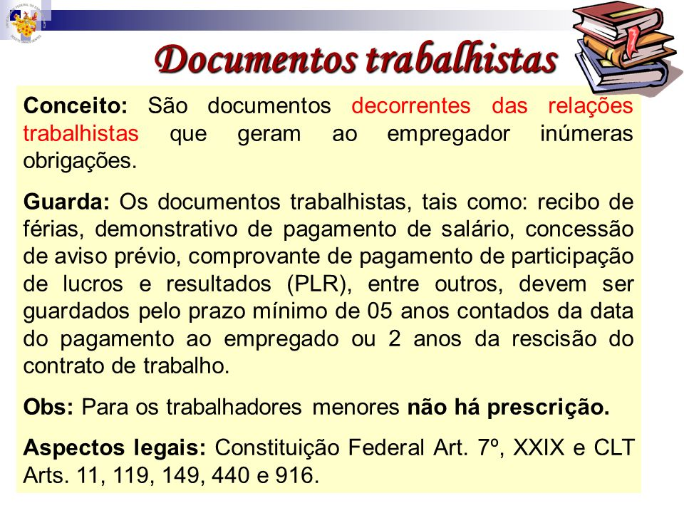 Documentos trabalhistas