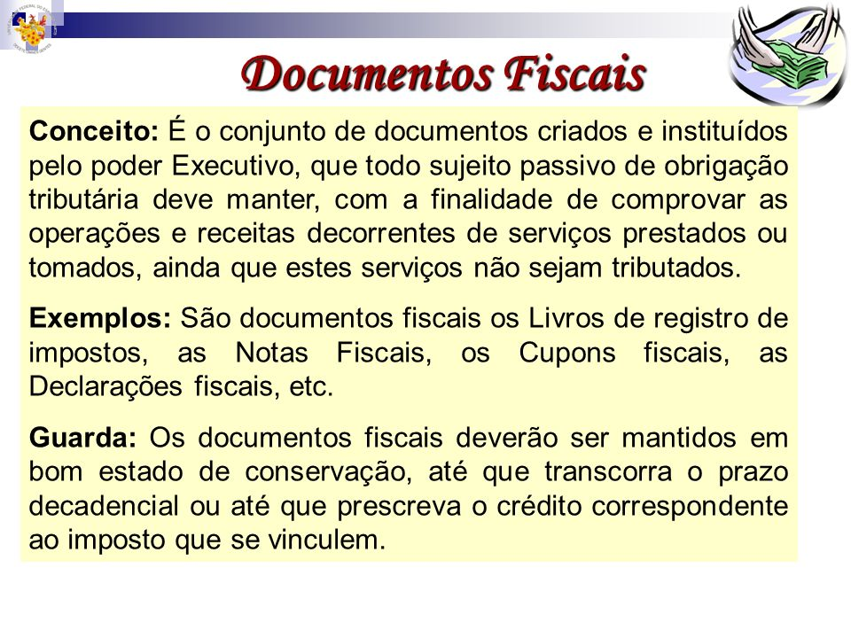 Documentos Fiscais