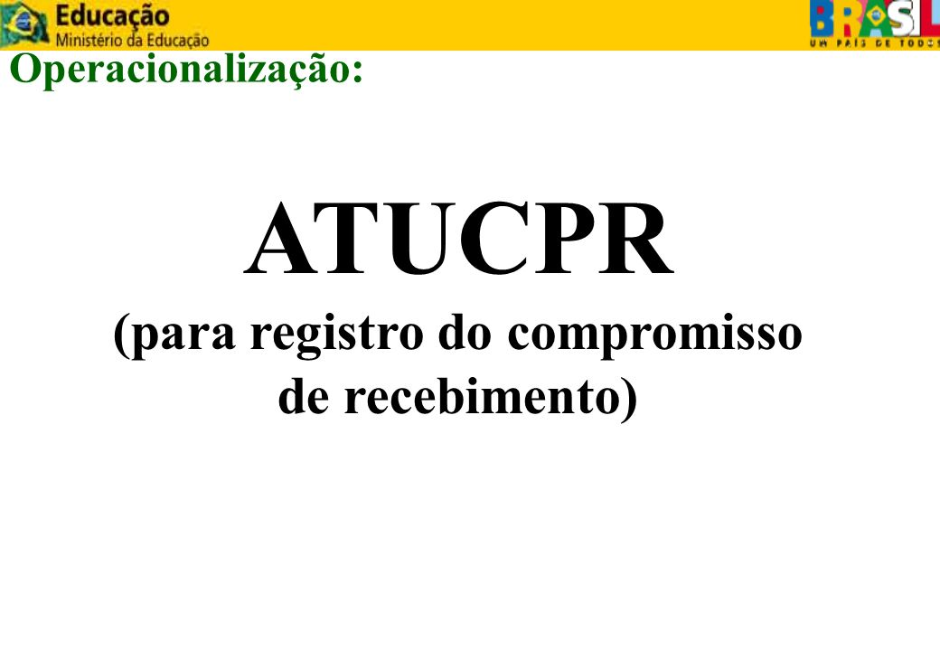 (para registro do compromisso