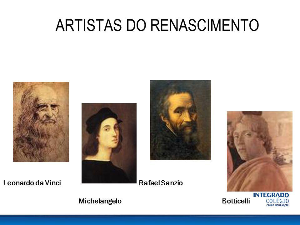 Resultado de imagem para artistas do renascimento