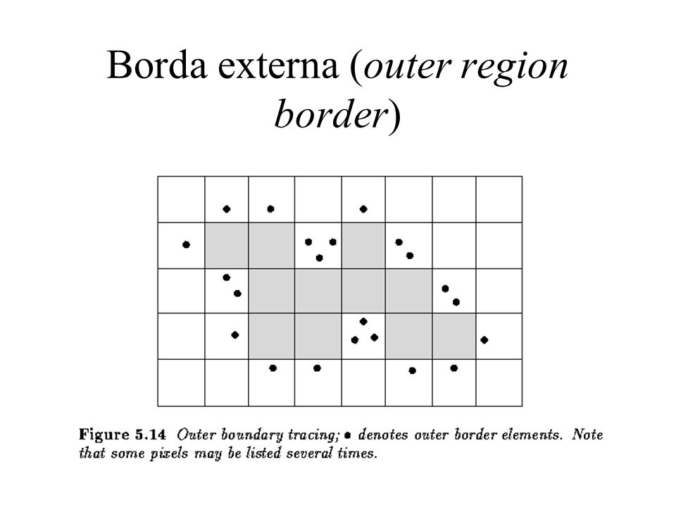 Borda externa (outer region border)
