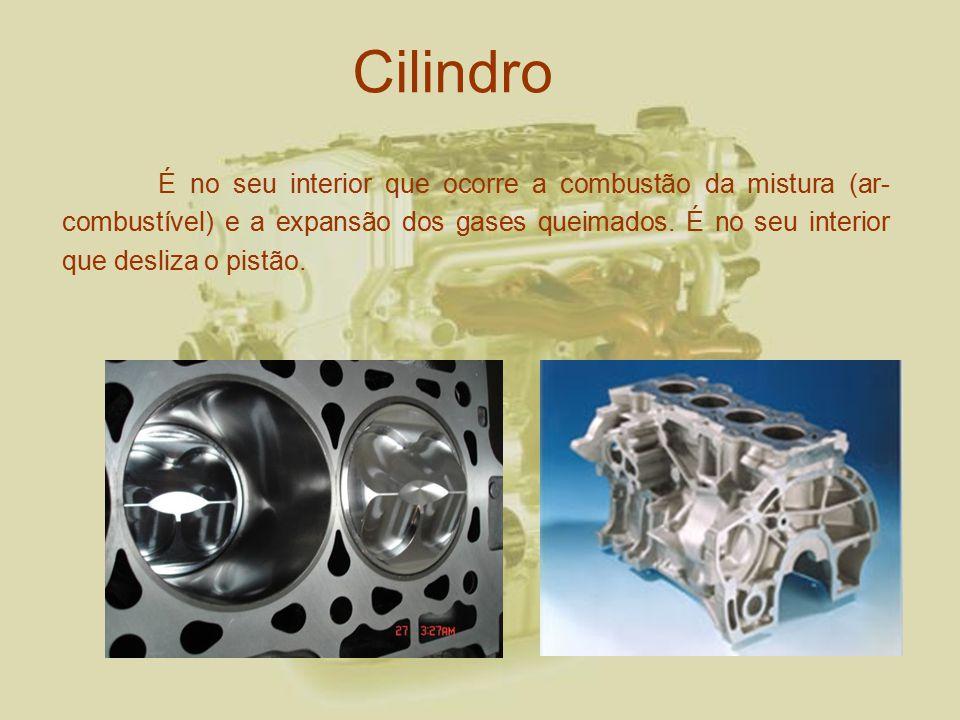5881358f926 Cilindro É no seu interior que ocorre a combustão da mistura (ar-combustível)  e a expansão dos gases queimados. É no seu interior que desliza o pistão.