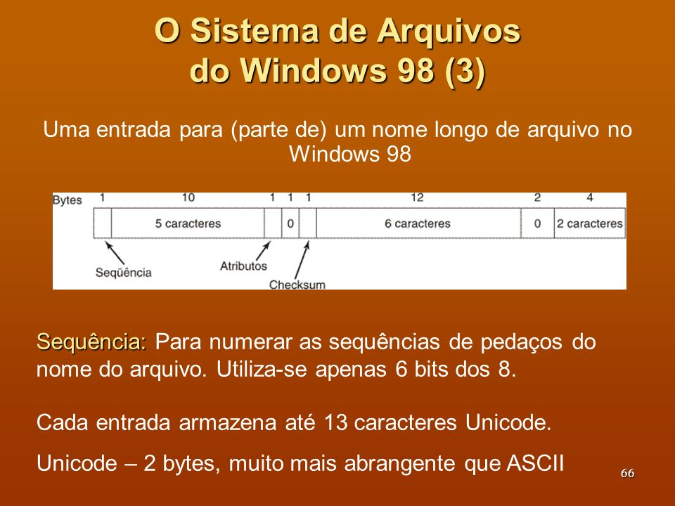 O Sistema de Arquivos do Windows 98 (3)