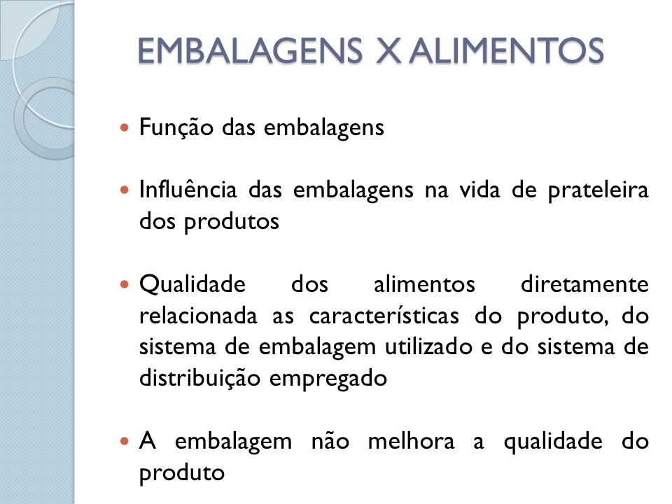 EMBALAGENS X ALIMENTOS