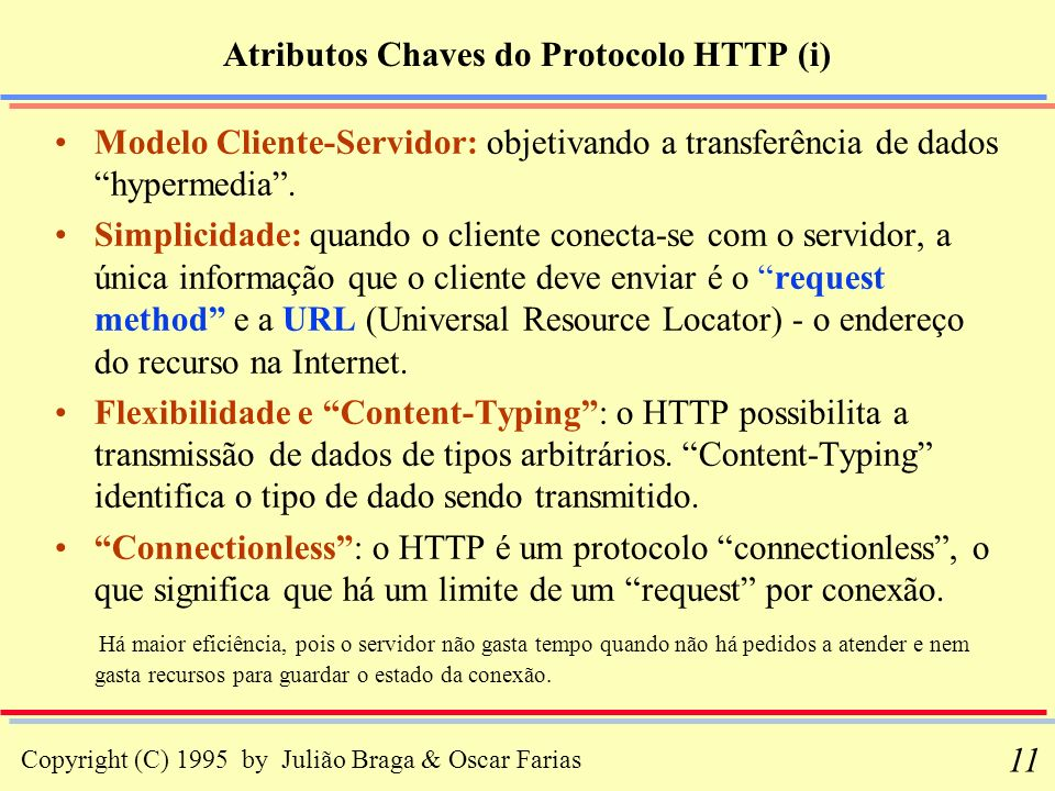 Atributos Chaves do Protocolo HTTP (i)