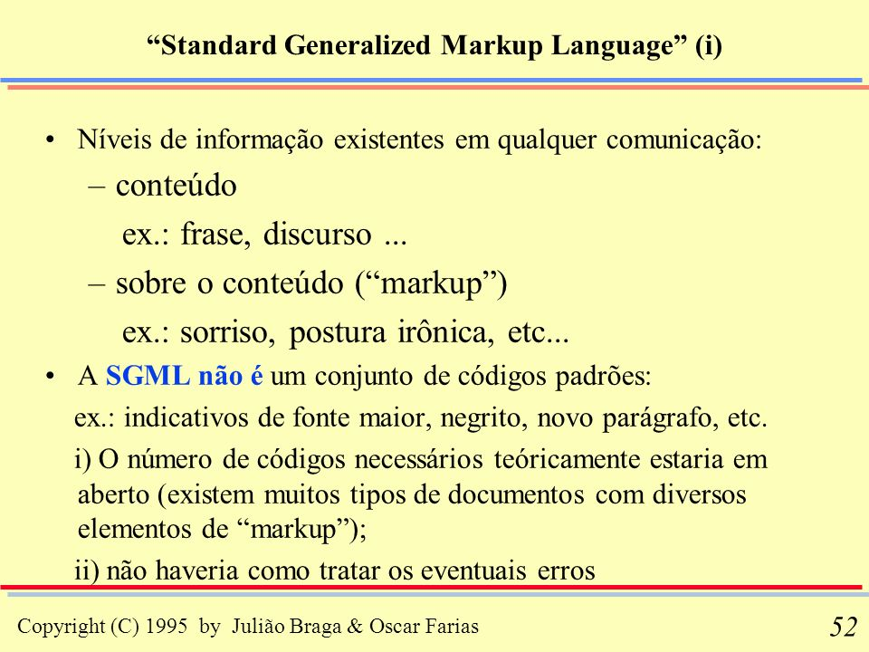 Standard Generalized Markup Language (i)