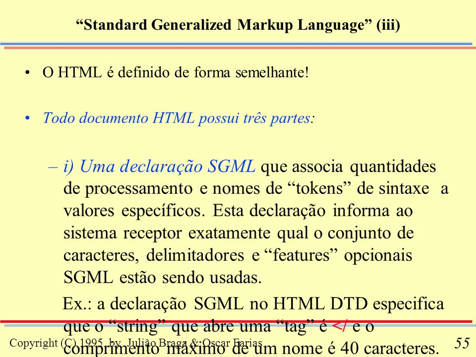 Standard Generalized Markup Language (iii)