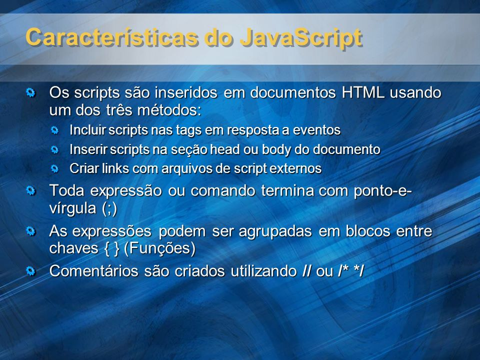 Características do JavaScript