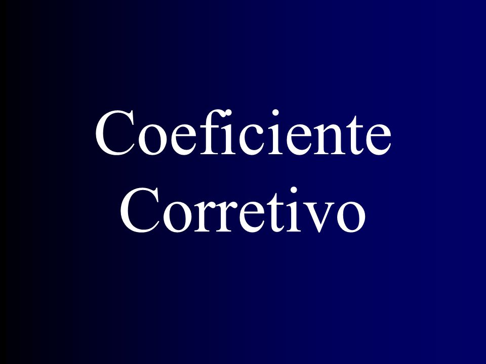 Coeficiente Corretivo