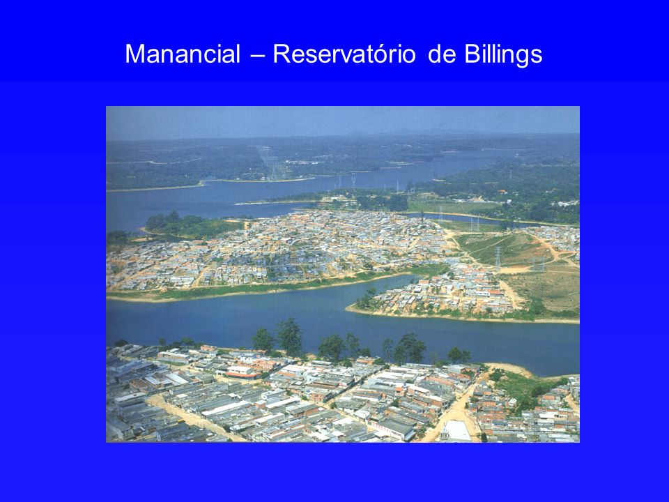 Manancial – Reservatório de Billings
