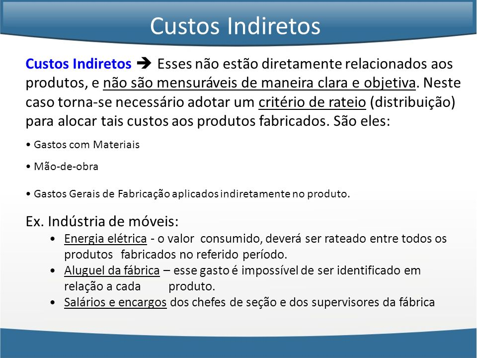 Custos Indiretos
