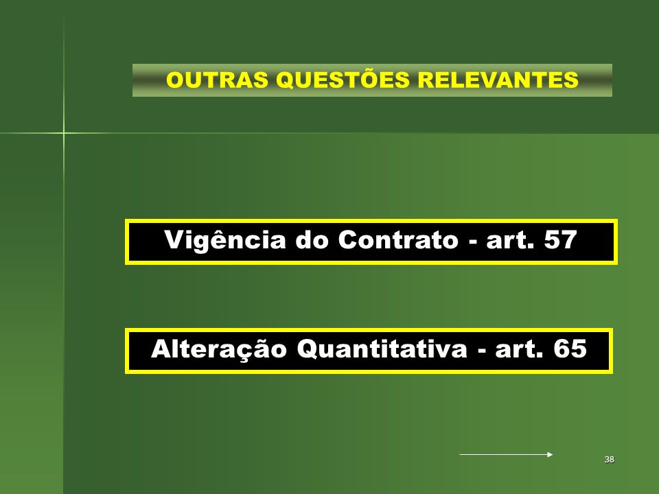 Vigência do Contrato - art. 57
