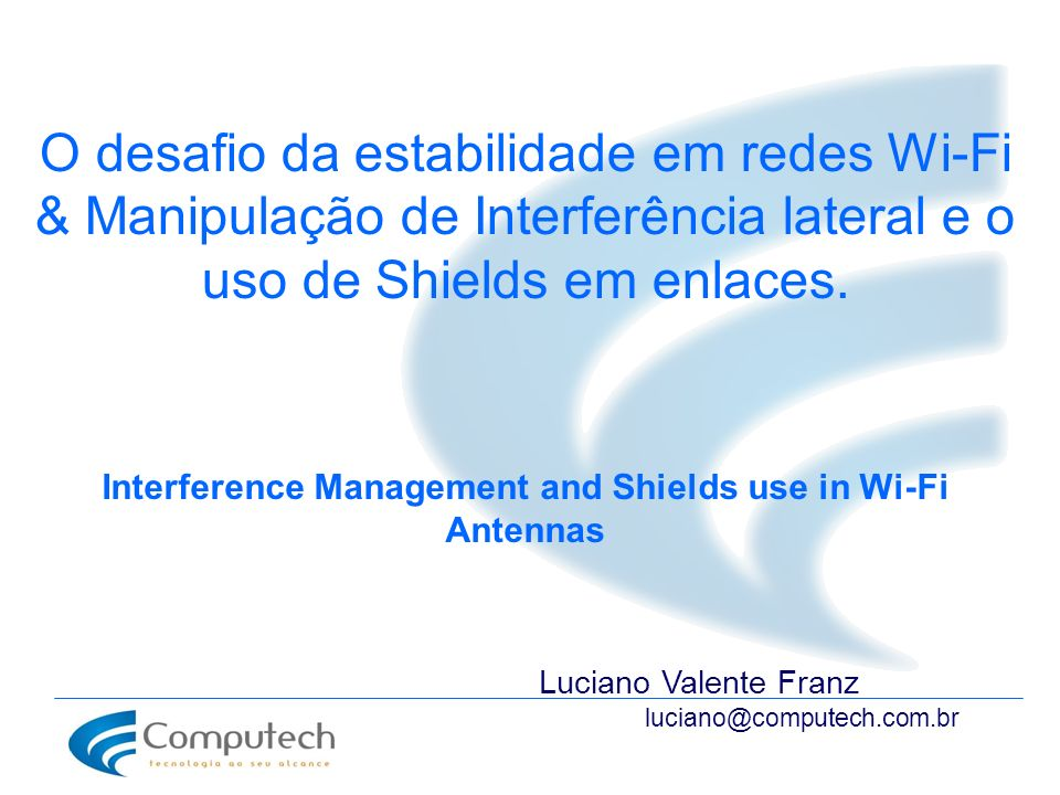 Interference Management and Shields use in Wi-Fi Antennas