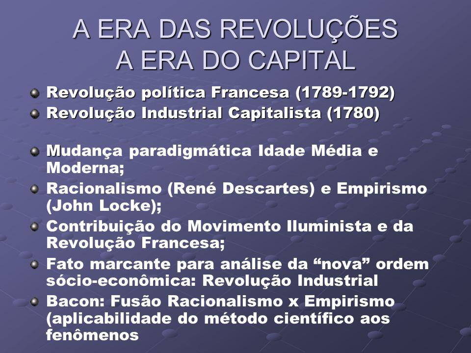 A ERA DAS REVOLUÇÕES A ERA DO CAPITAL