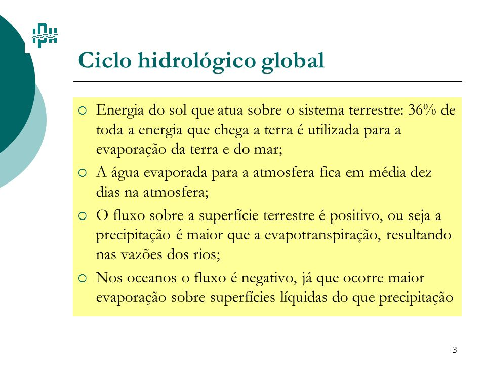 Ciclo hidrológico global