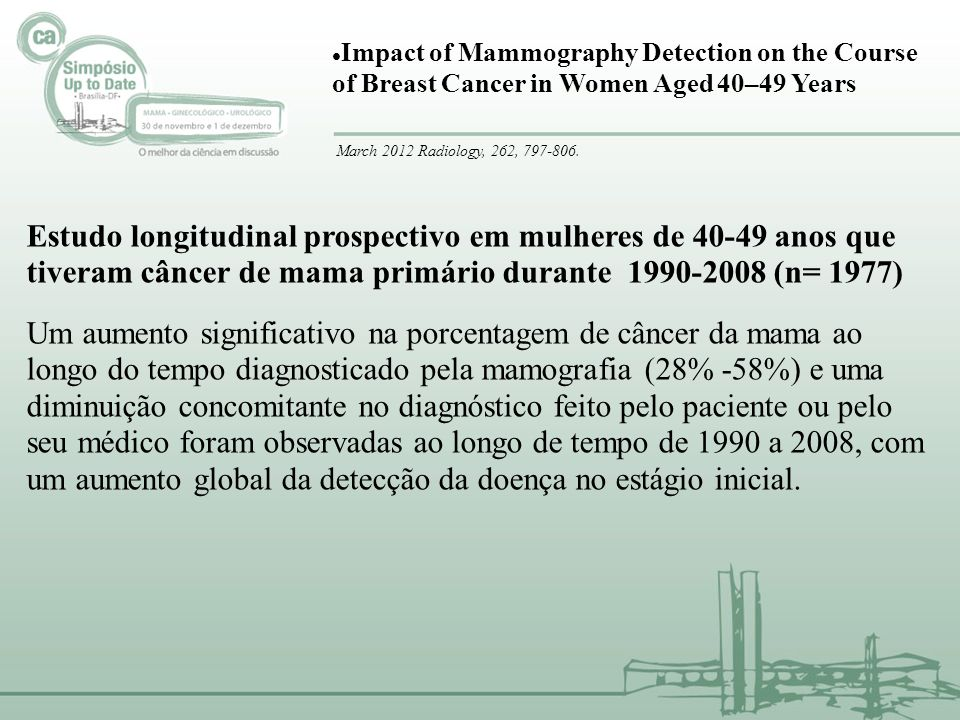 Impact of Mammography Detection on the Course of Breast Cancer in Women Aged 40–49 Years