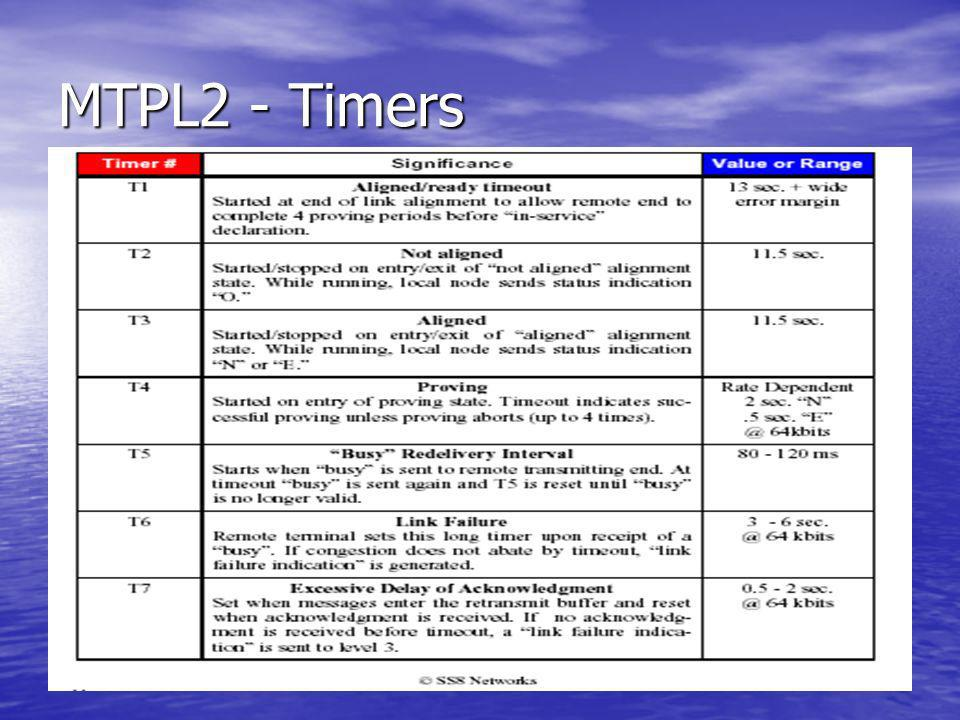 MTPL2 - Timers