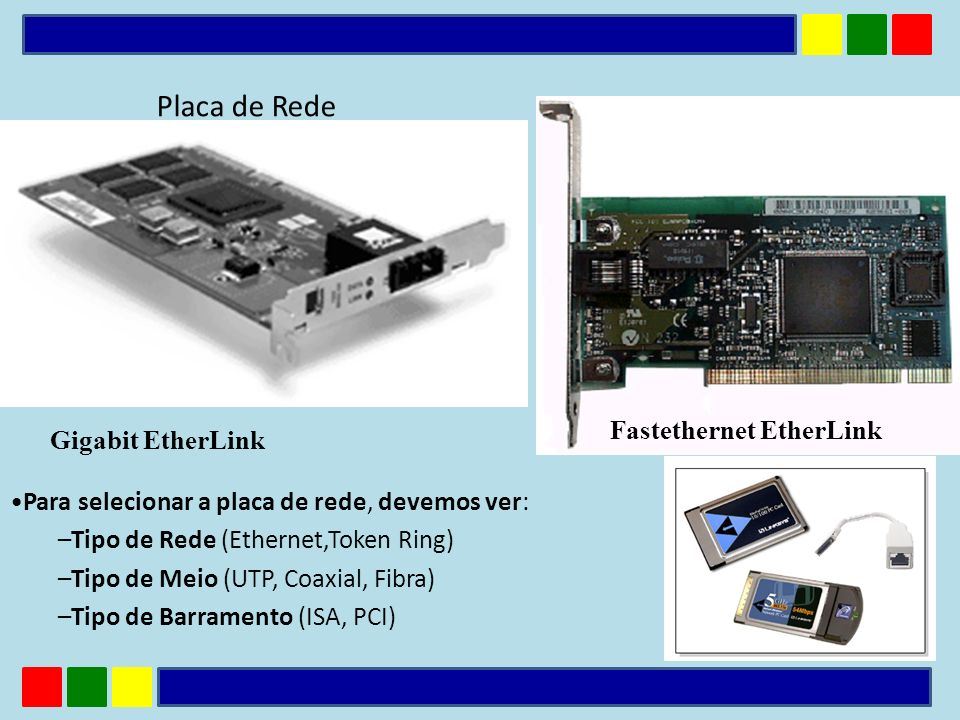 Placa de Rede Fastethernet EtherLink Gigabit EtherLink