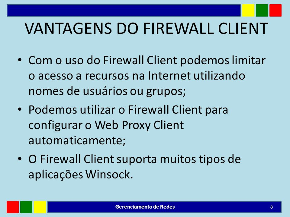 VANTAGENS DO FIREWALL CLIENT