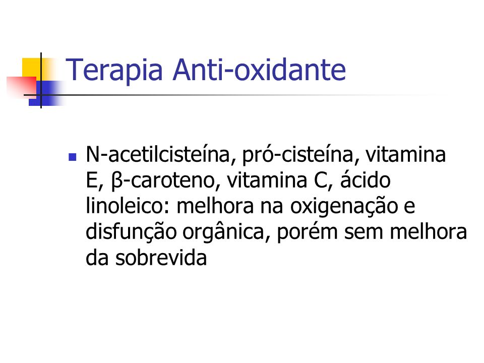 Terapia Anti-oxidante