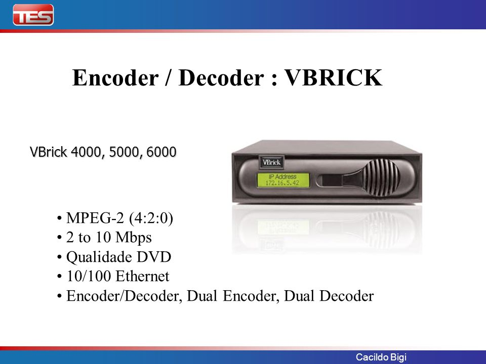 Encoder / Decoder : VBRICK