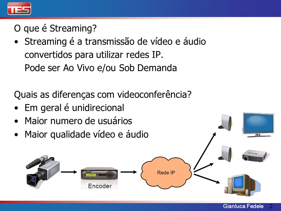 Streaming é a transmissão de vídeo e áudio