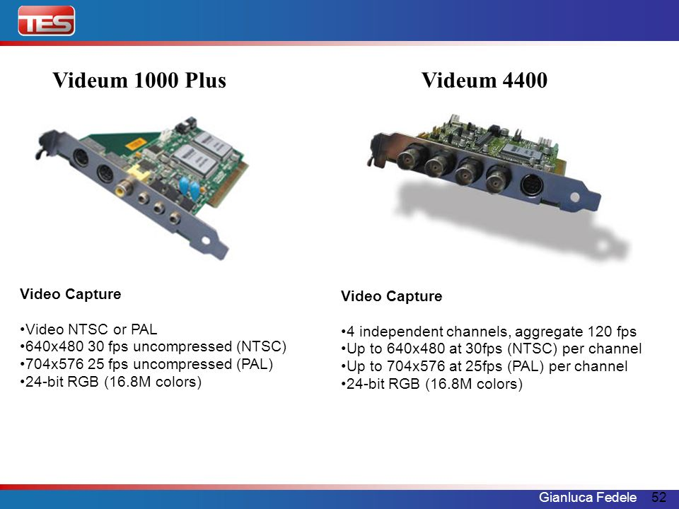 Videum 1000 Plus Videum 4400 Video Capture Video Capture