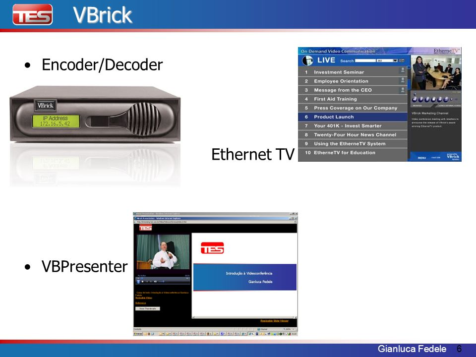 VBrick Encoder/Decoder Ethernet TV VBPresenter