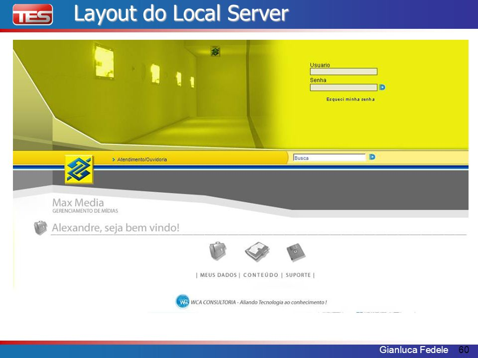 Layout do Local Server