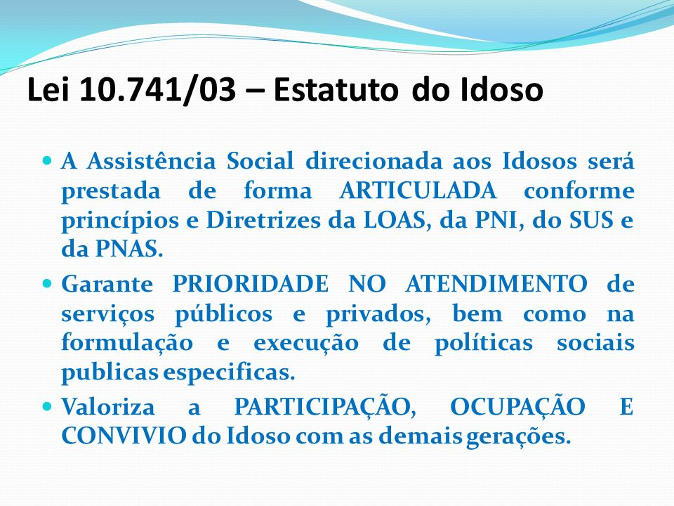 Lei /03 – Estatuto do Idoso