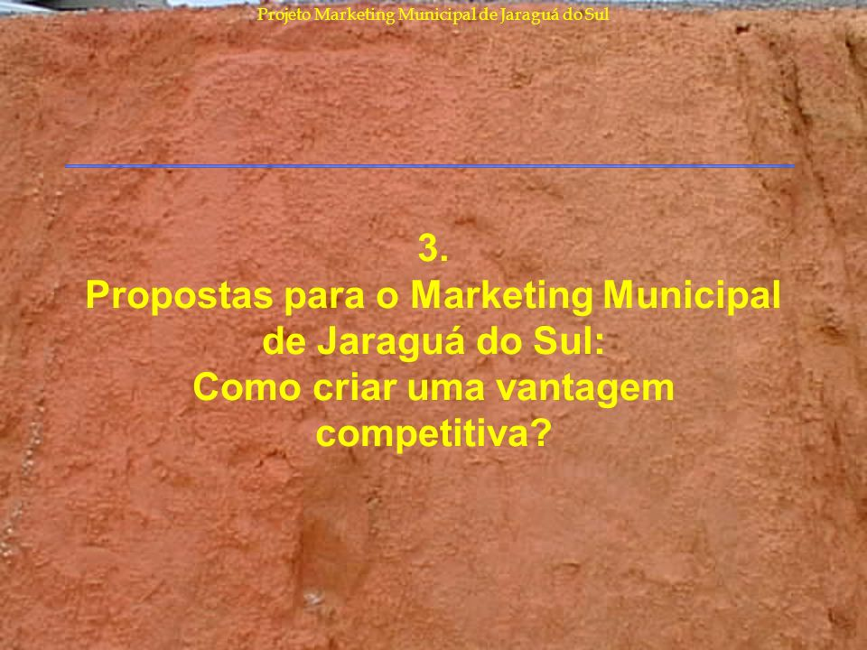 Projeto Marketing Municipal de Jaraguá do Sul