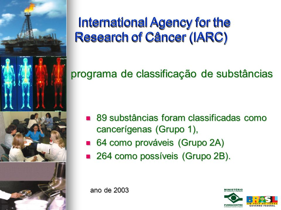International Agency for the Research of Câncer (IARC)