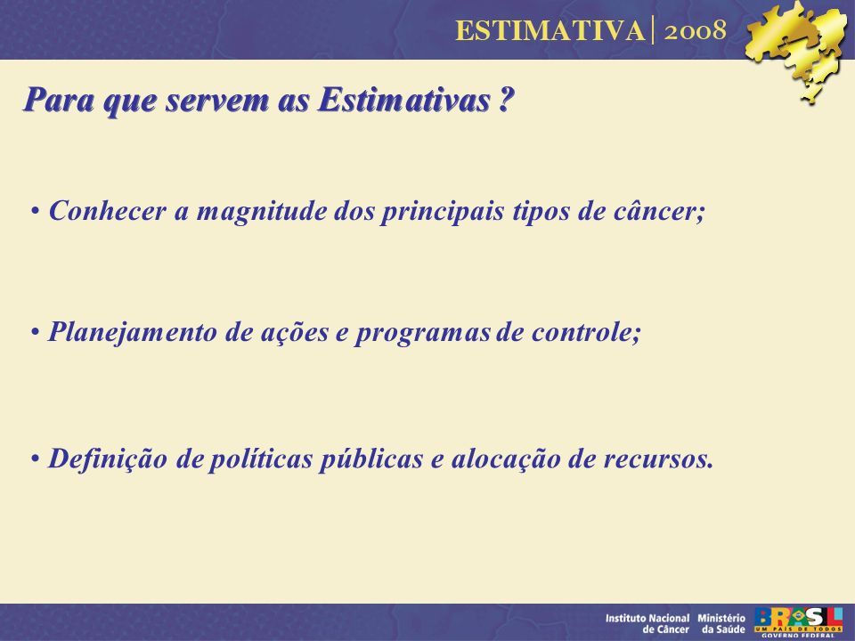 Para que servem as Estimativas