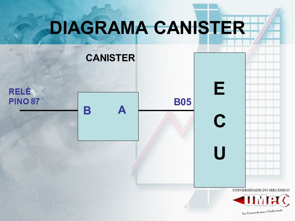 DIAGRAMA CANISTER CANISTER E C U A RELÉ PINO 87 B05 B
