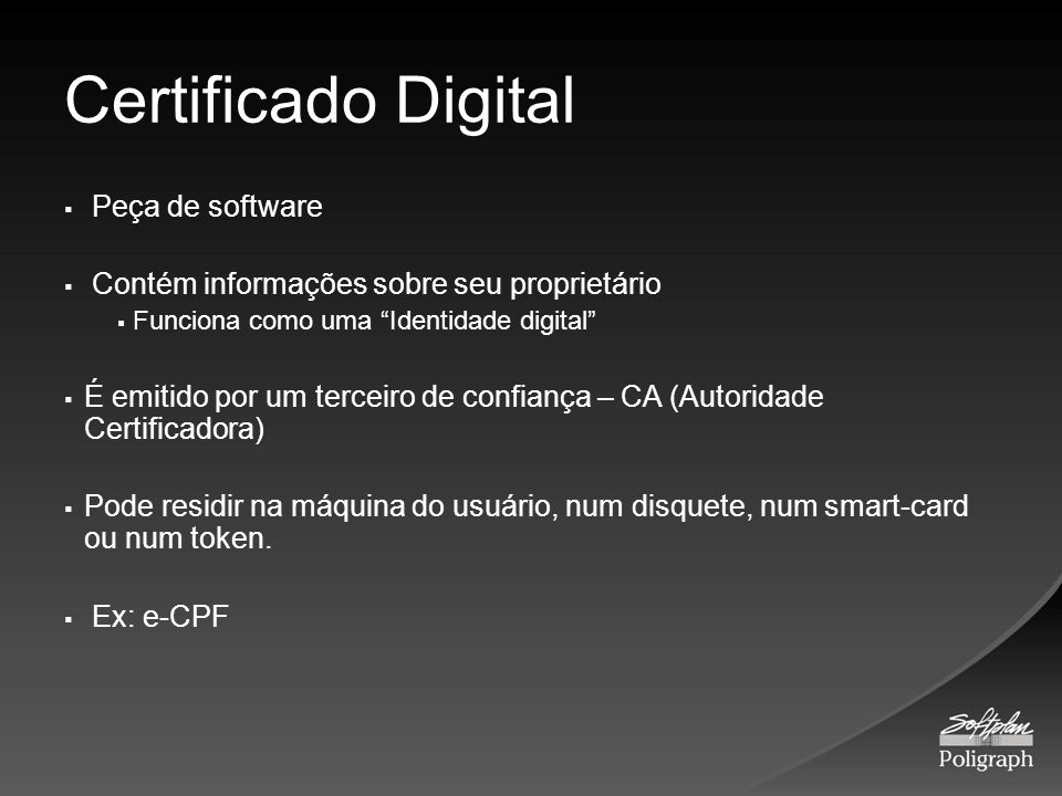 Certificado Digital Peça de software
