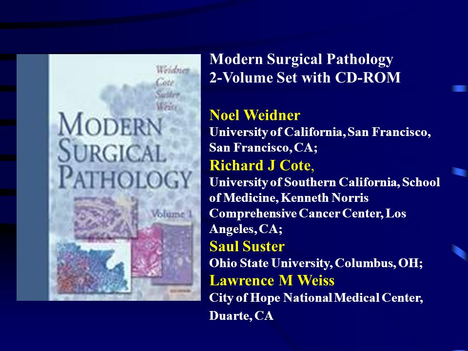 Modern Surgical Pathology 2-Volume Set with CD-ROM Noel Weidner