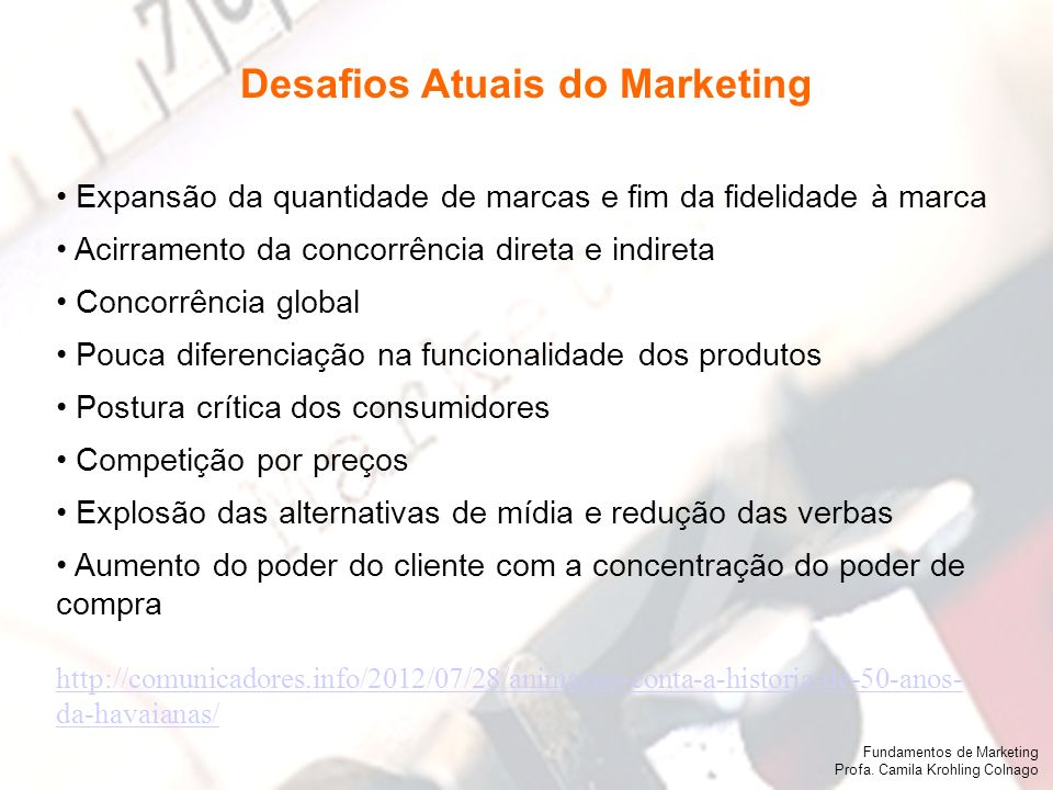 Desafios Atuais do Marketing