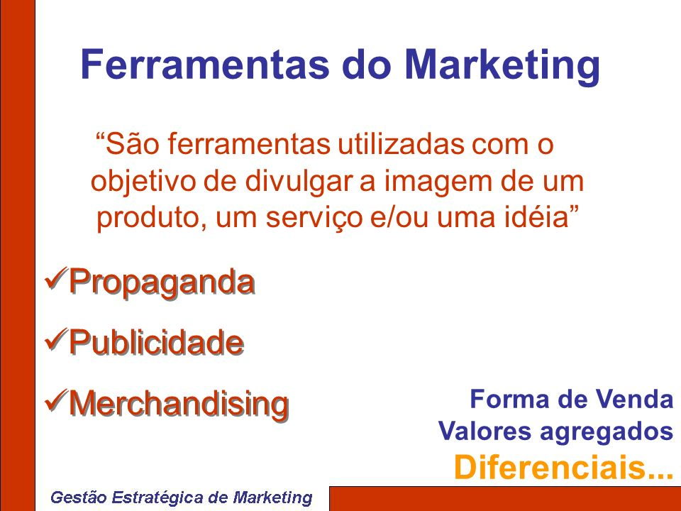 Ferramentas do Marketing