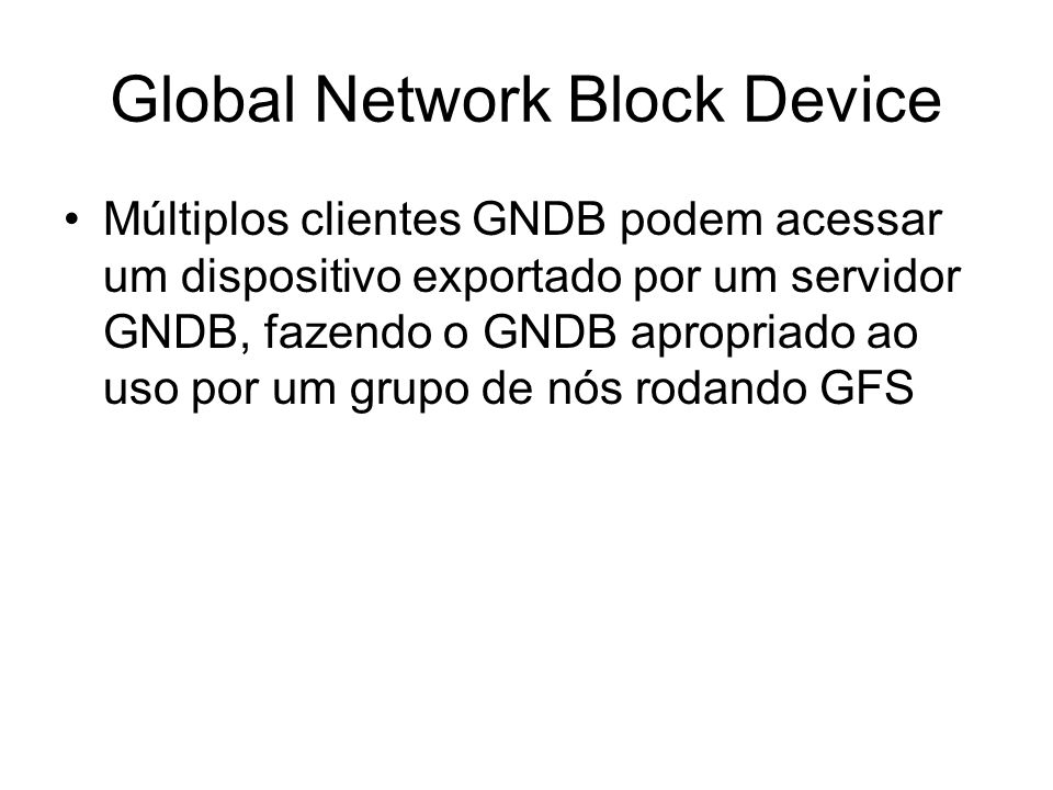 Global Network Block Device