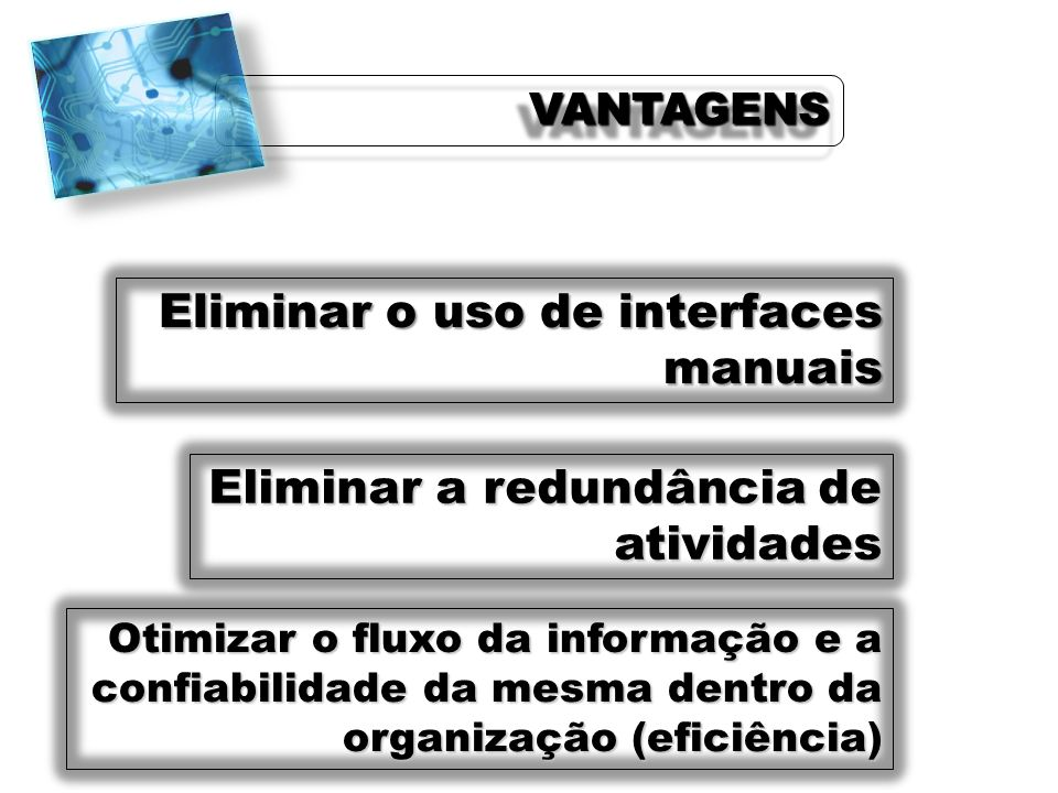 Eliminar o uso de interfaces manuais