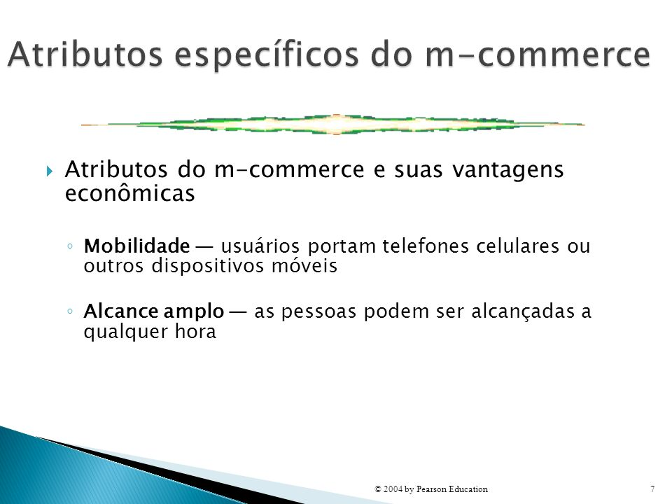 Atributos específicos do m-commerce