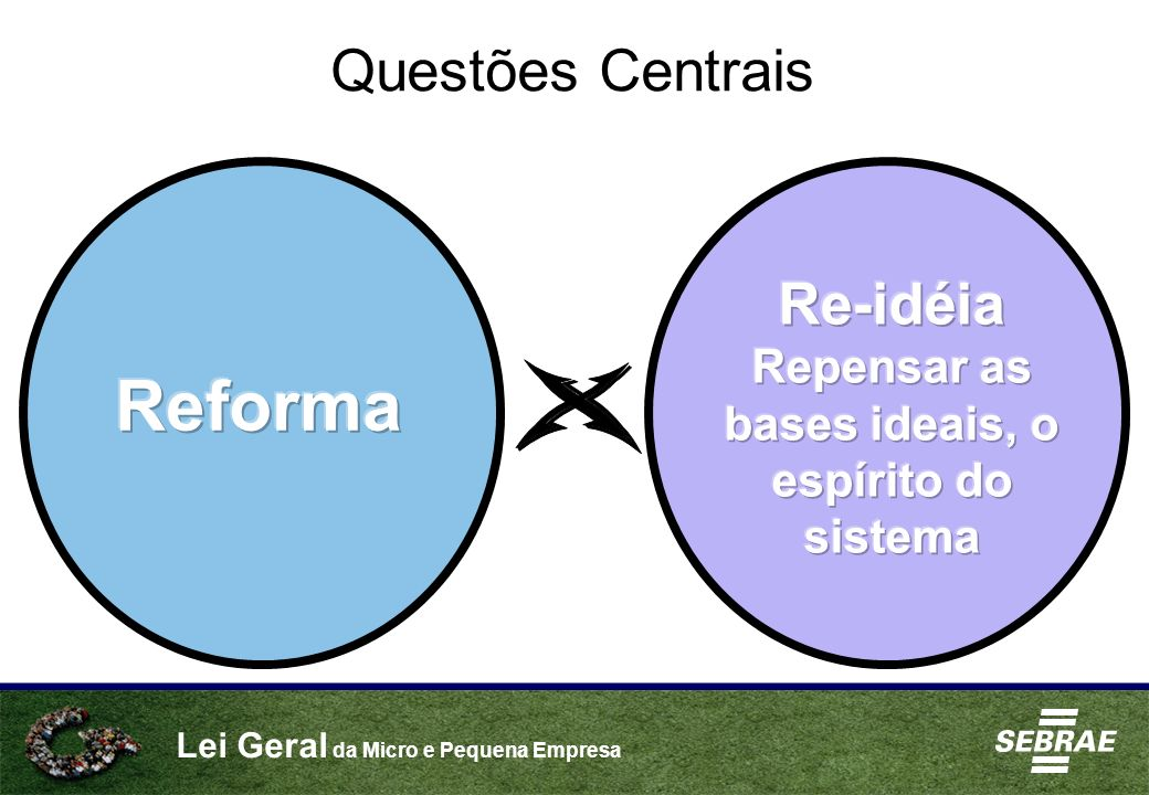 Repensar as bases ideais, o espírito do sistema