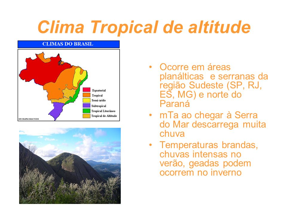 Clima Tropical de altitude