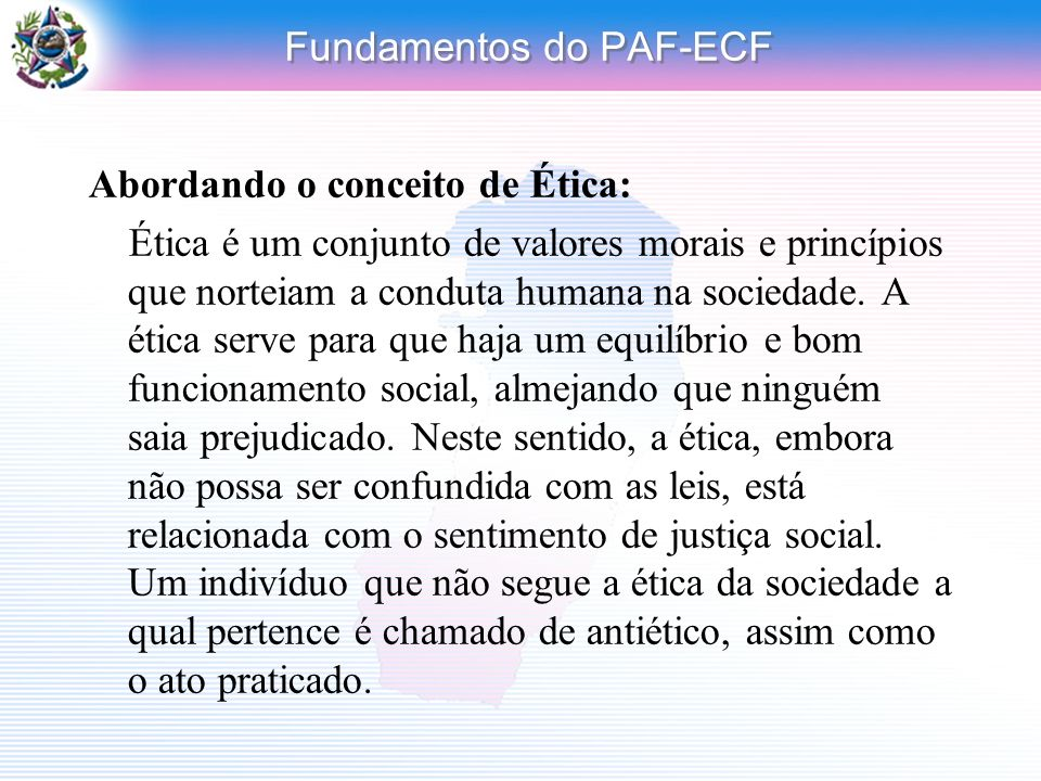 Fundamentos do PAF-ECF