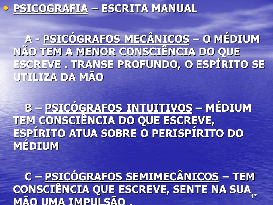 PSICOGRAFIA – ESCRITA MANUAL