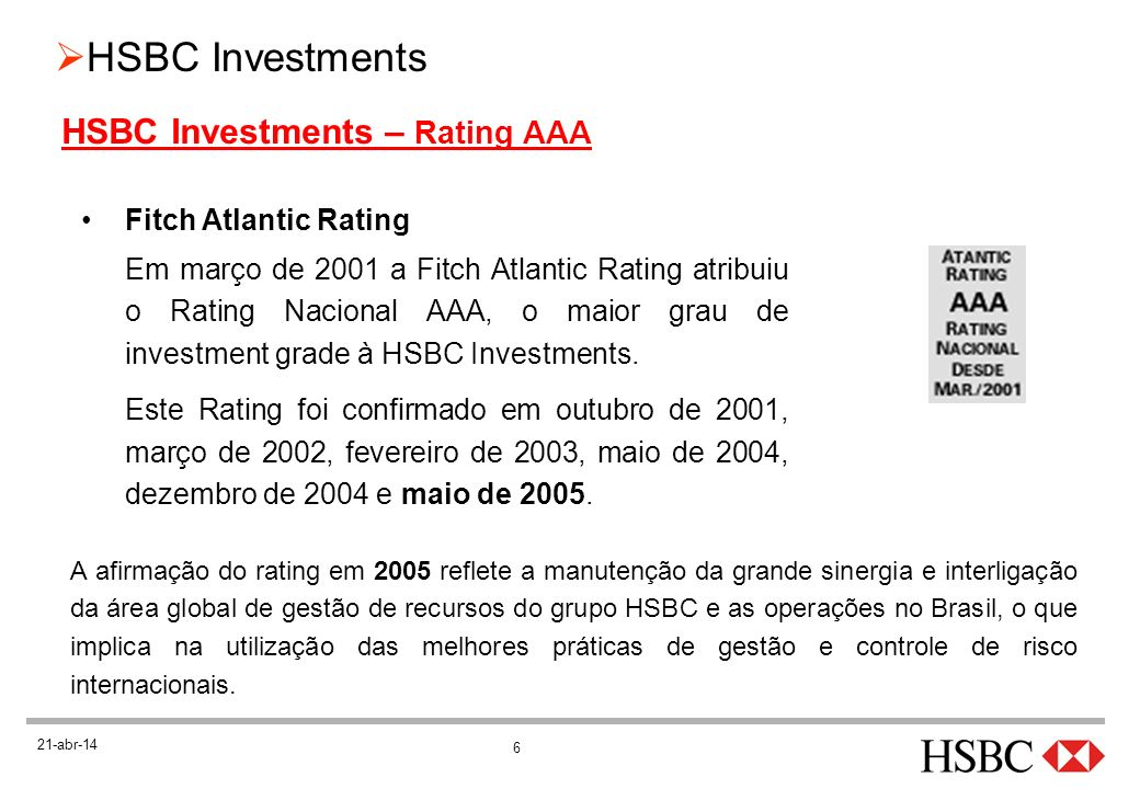 HSBC Investments – Rating AAA