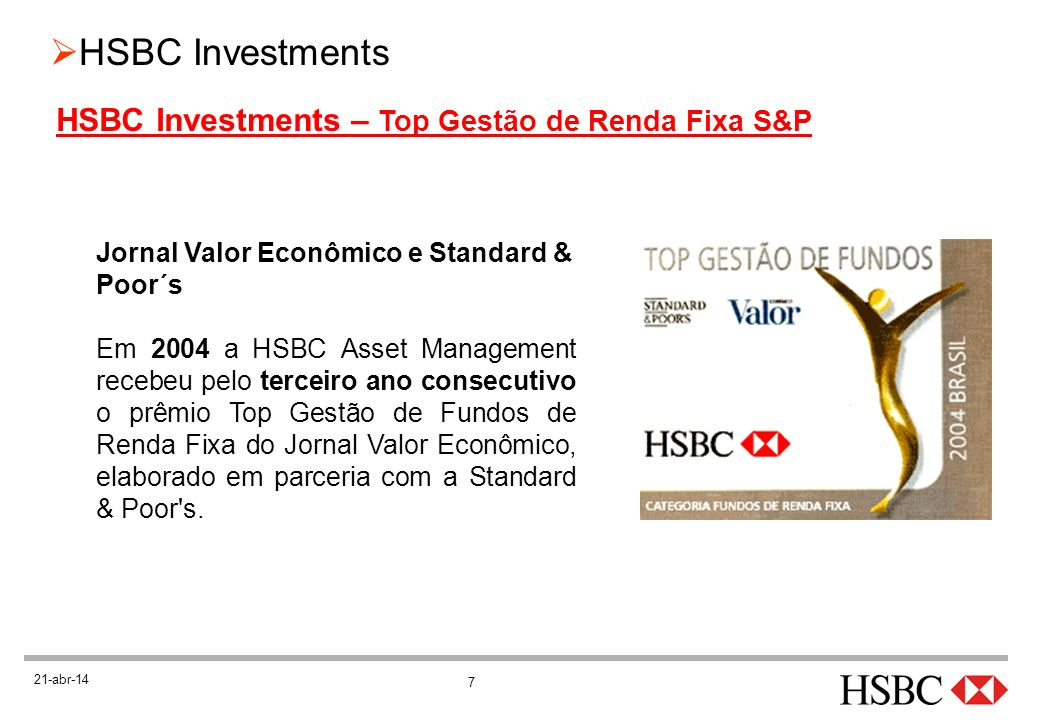 HSBC Investments – Top Gestão de Renda Fixa S&P